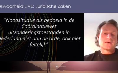 Juridisch weekjournaal, 08-06-2021, Jeroen bespreekt het hoger beroep – rechtszaak tegen de maatregelen