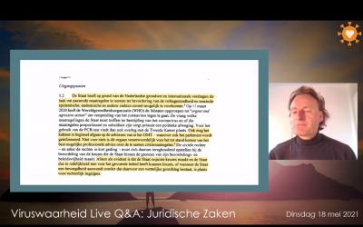 Juridisch weekjournaal, 18-05-2021, Jeroen bespreekt juridische onderwerpen