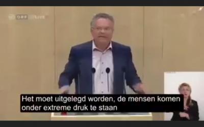 Externe bronnen, 14-10-2021, Speech Gerald Hauser in het Oostenrijkse Parlement